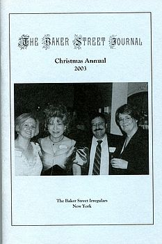The BSJ 2003 Christmas Annual cover