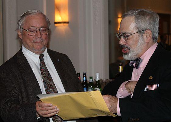 Peter Calamai receives the 2012 Morley-Montgomery award