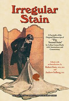 "Irregular Stain (""The Second Stain"" manuscript) cover"