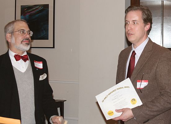 Timothy S. Greer receives the 2014 Morley-Montgomery Award