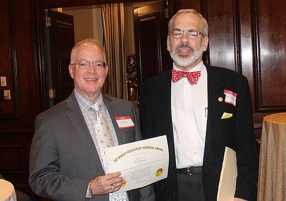 Bill Mason receives the 2016 Morley-Montgomery Award