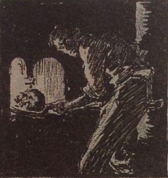 Steele: Shoveling skull into furnace (Shoscombe Old Place)