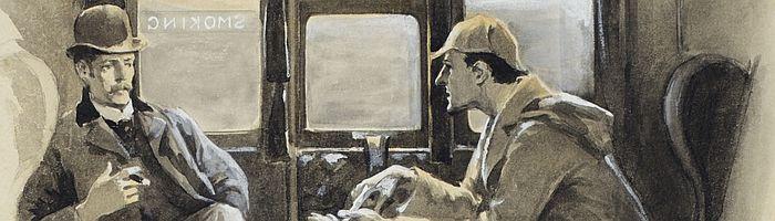 Holmes & Watson on a train in Silver Blaze