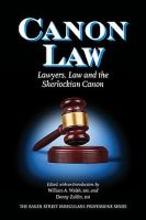 Canon Law dustjacket cover