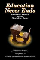 Education Never Ends dustjacket cover