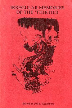 Irregular Memories of the 'Thirties cover